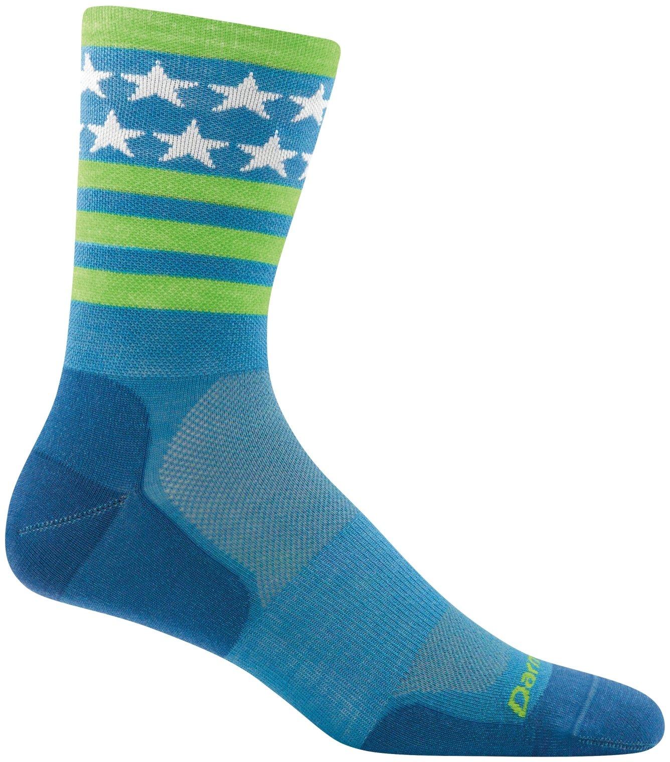 Darn Tough Stars and Stripes Micro Crew Ultralight Sock - Men's Blue X-Large by Darn Tough