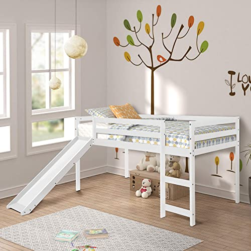 Merax Solid Wood Twin Size Loft Bed