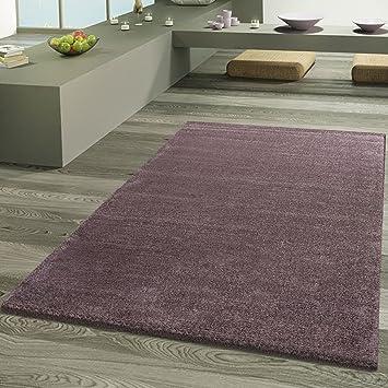 Tapis Design Frieze Pour Salon Luxe Lueur Aspect Pastel Violet