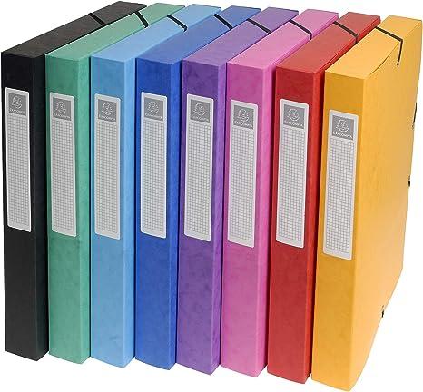 Exacompta 50300E - Pack de 8 carpetas de proyecto, Multicolor ...