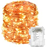 LightsEtc 200 LED String Lights 65.6ft Warm White Decorative Copper Wire Dimmable Fairy Lights