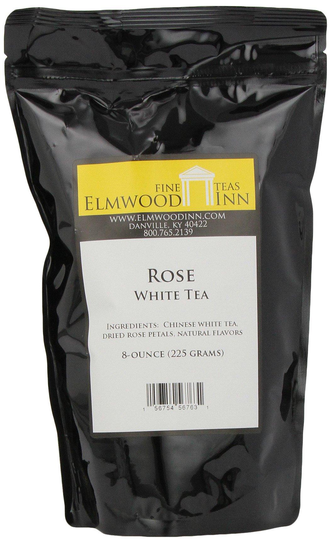 Elmwood Inn Fine Teas, Rose White Tea, 8-Ounce Pouch