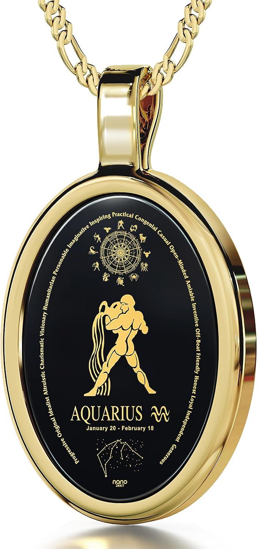 Jewelry Aquarius Necklace Aquarius Jewellery Astrology Locket Aquarius Locket /& Gift bag Jewellery Jewelry Necklace Zodiac Locket