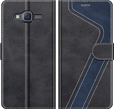 MOBESV Funda para Samsung Galaxy J5 2015, Funda Libro Samsung J5 2015, Funda Móvil Samsung Galaxy J5 2015 Magnético Carcasa para Samsung Galaxy J5 2015 Funda con Tapa, Elegante Negro: Amazon.es: Electrónica