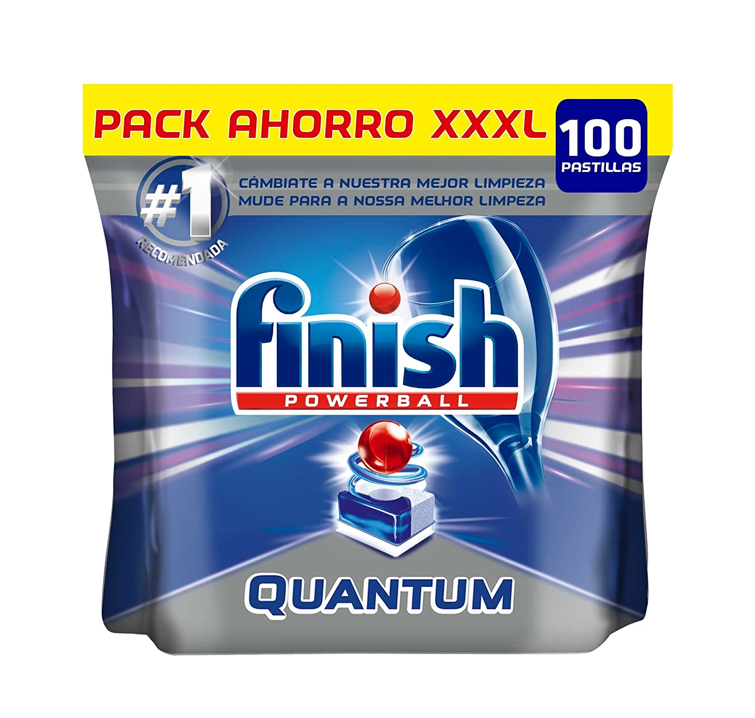 Finish Quantum Regular Pastillas para Lavavajillas - 100 pastillas ...