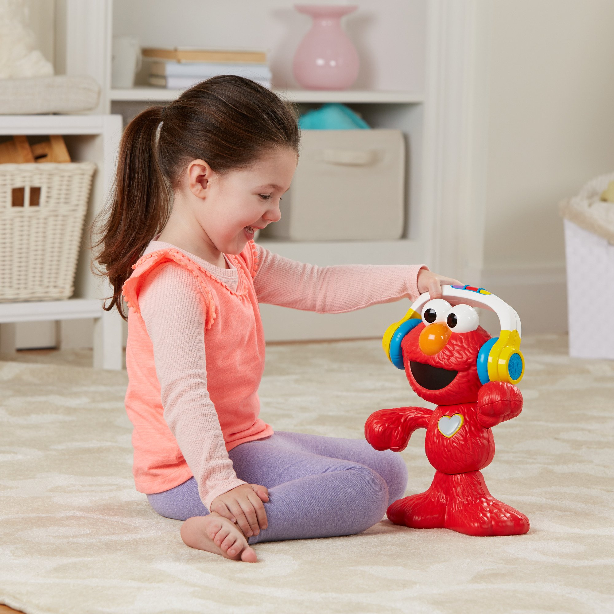 Sesame Street Let's Dance Elmo: 12-inch Elmo Toy that Sings and Dances, With 3 Musical Modes, Sesame Street Toy for Kids Ages 18 Months and Up by Sesame Street (Image #6)