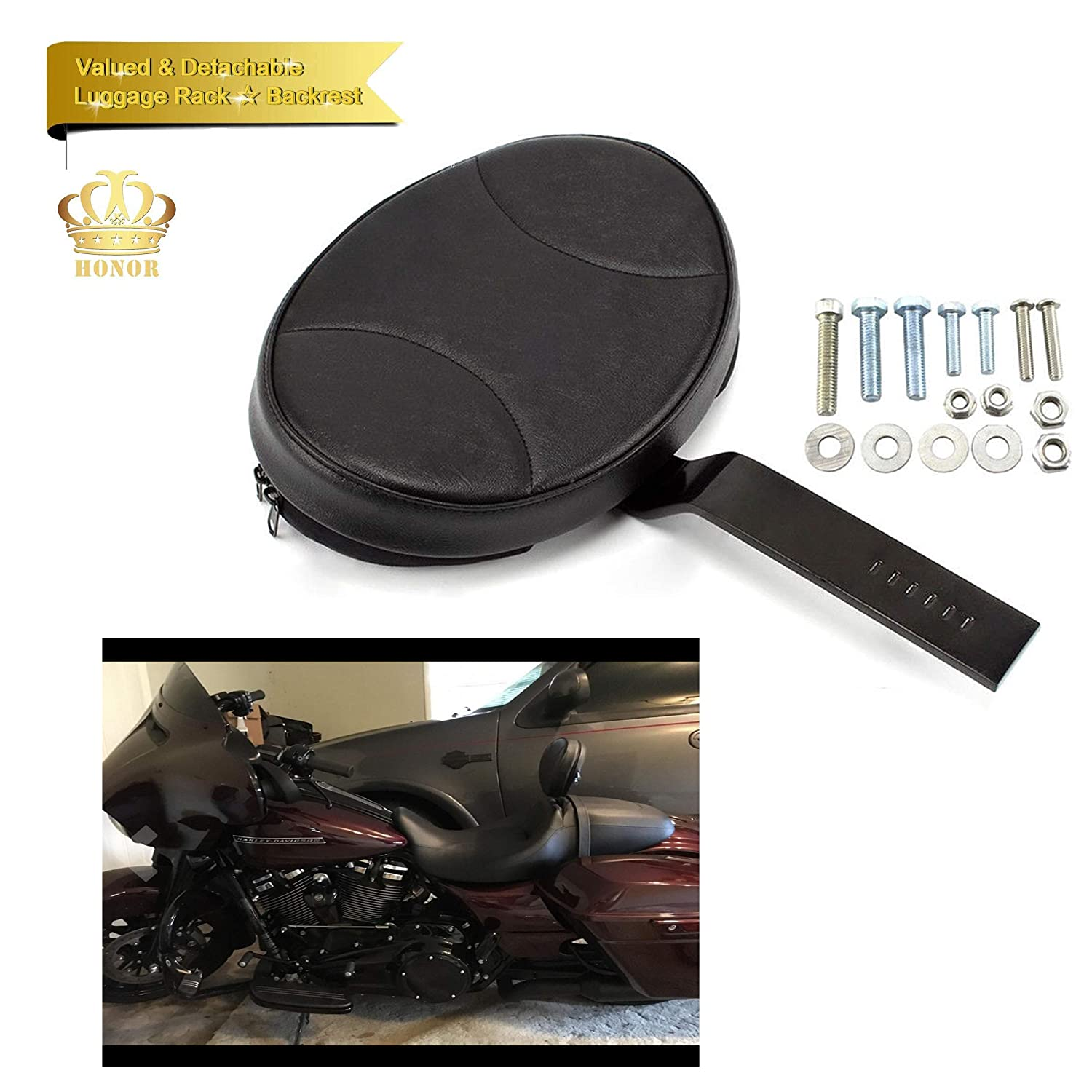 Honor Custom Made Driver Rider Backrest,Rider Sissy Bar For Indian Chief Chieftain Roadmaster Springfield 2014-2018