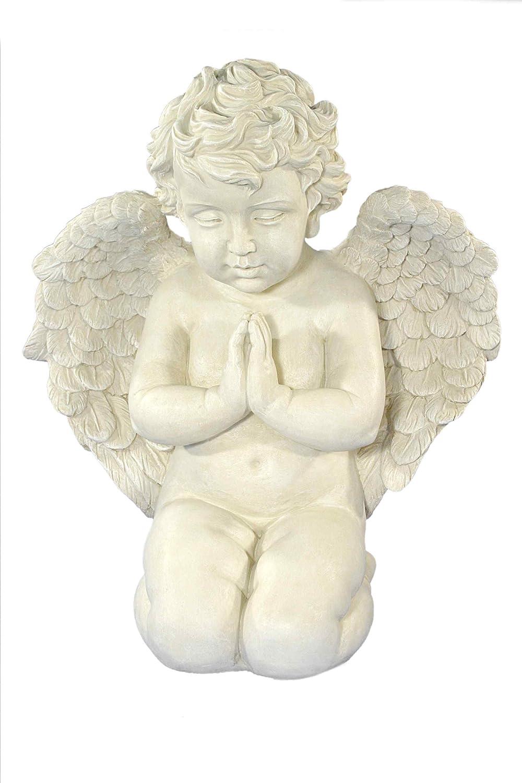 Casa Collection 07675 Gartenfigur Engel kniend und betend, groß, Höhe 52 cm