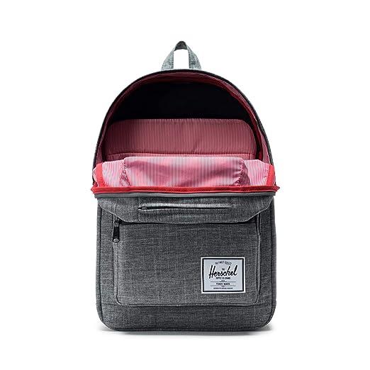 Herschel Pop Quiz Backpack Raven Crosshatch/Black Rubber by Herschel Supply Co.
