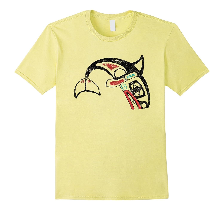 Haida Killer Whale Pacific Northwest Native Art Tshirt-BN