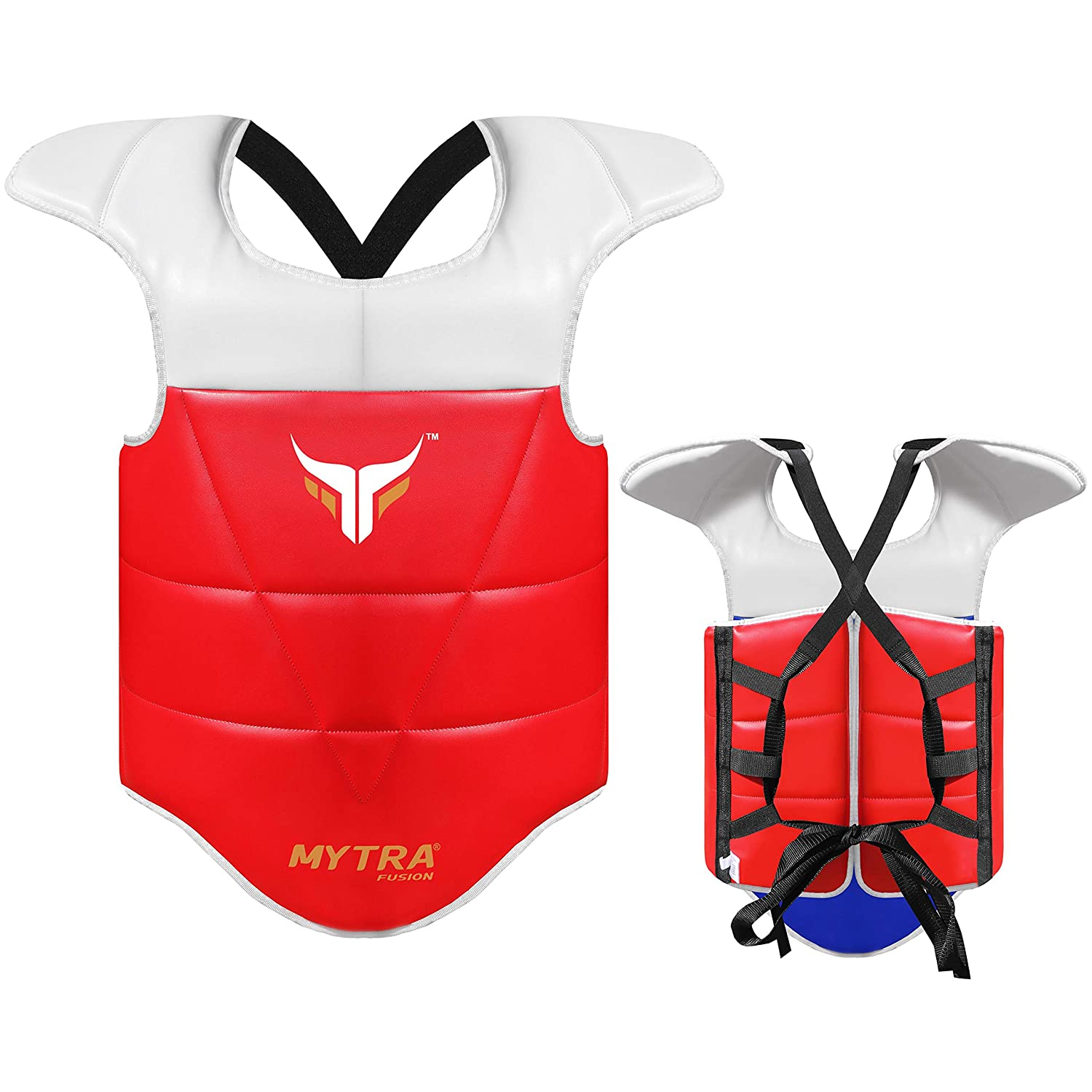 Mytra Fusion Taekwondo Chest Guard Chest /& Belly Protector Body Shield Body Armor for Martial Art