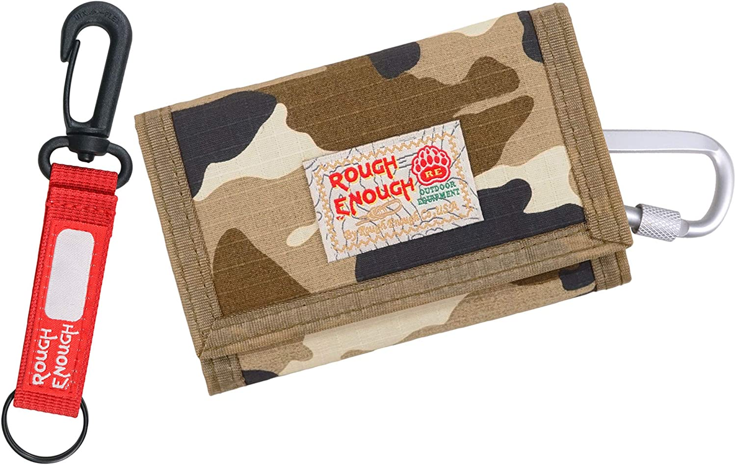 Rough Enough Kids Boys Wallets for Teen Boy with Camo Trifold Canvas Kid Wallet
