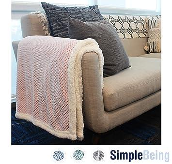 Amazon.com: Simple Being - Manta de felpa para sofá, cama ...