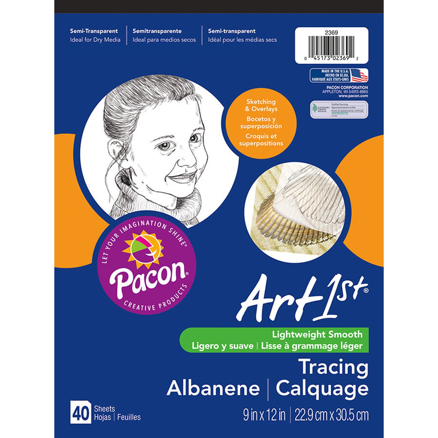 Pacon Art1St Tracing Paper Pad, 9x12-Inch, 50-Sheet (2312) Pacon Corporation
