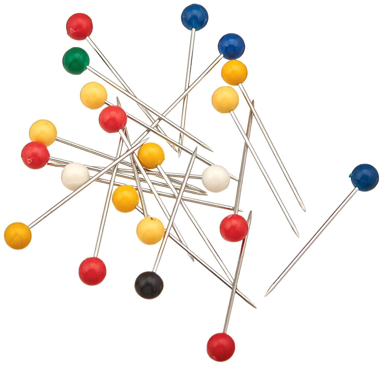 Dritz 112 Color Ball Pins 250-Count Extra Long 1-3//4-Inch