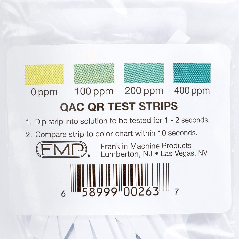 Franklin Lavadora Quat Amoniaco Sanitizer tira de prueba de cinta ...