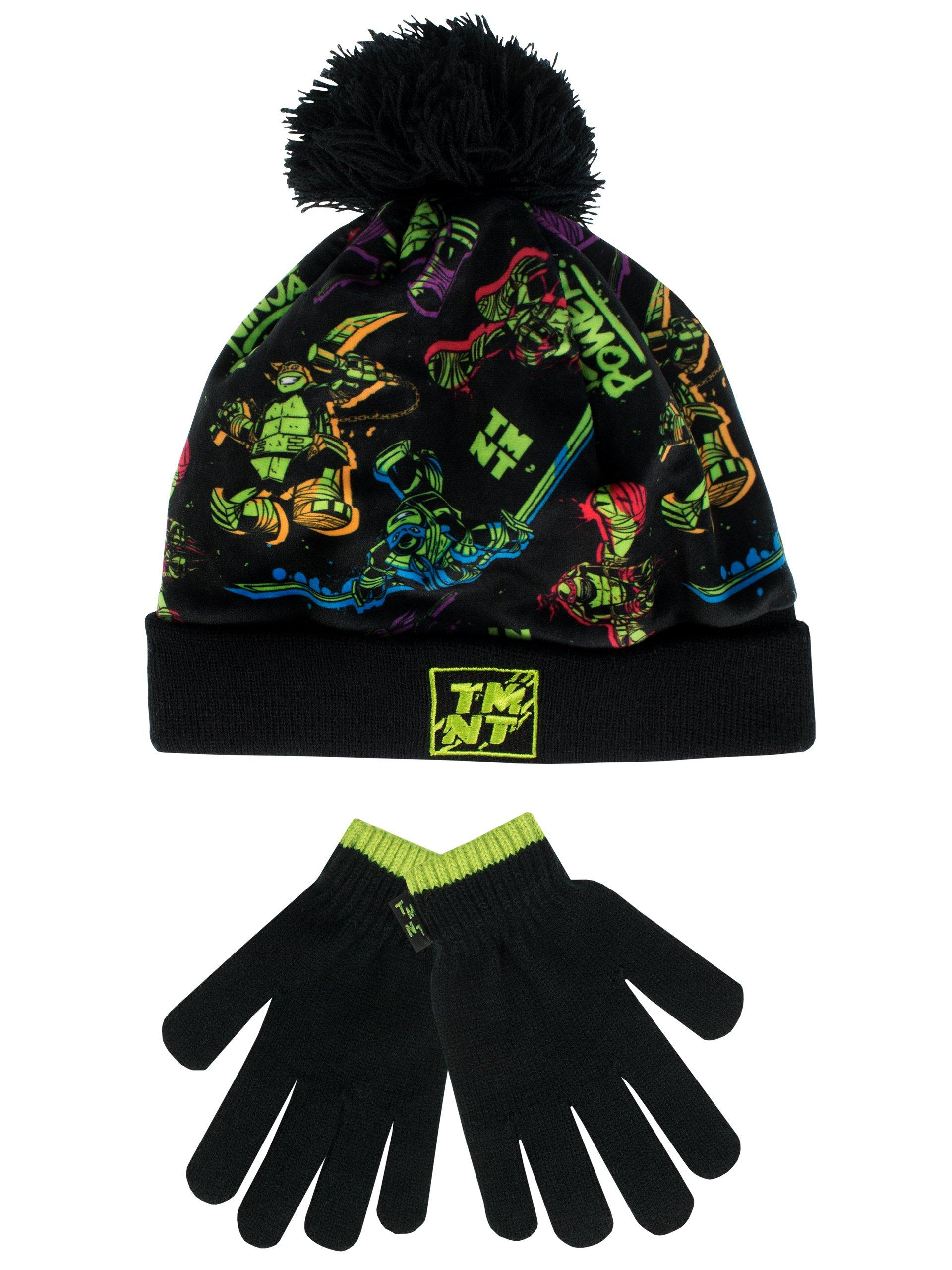 Teenage Mutant Ninja Turtles Boys' Ninja Turtles Hat and Gloves Set Size 8-10 Years