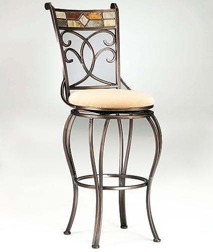 Sensational Amazon Com Veneto Slate Mosaic Finish With Beige Faux Suede Pabps2019 Chair Design Images Pabps2019Com