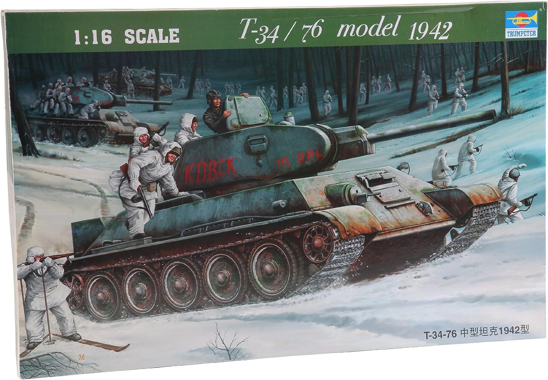 Trumpeter Models 905 1//16 Russian T34//76 Mod 1942 Tank
