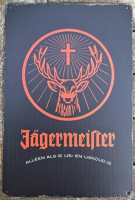 Amazon.com: Linvender Jagermeister - Etiqueta de hojalata ...