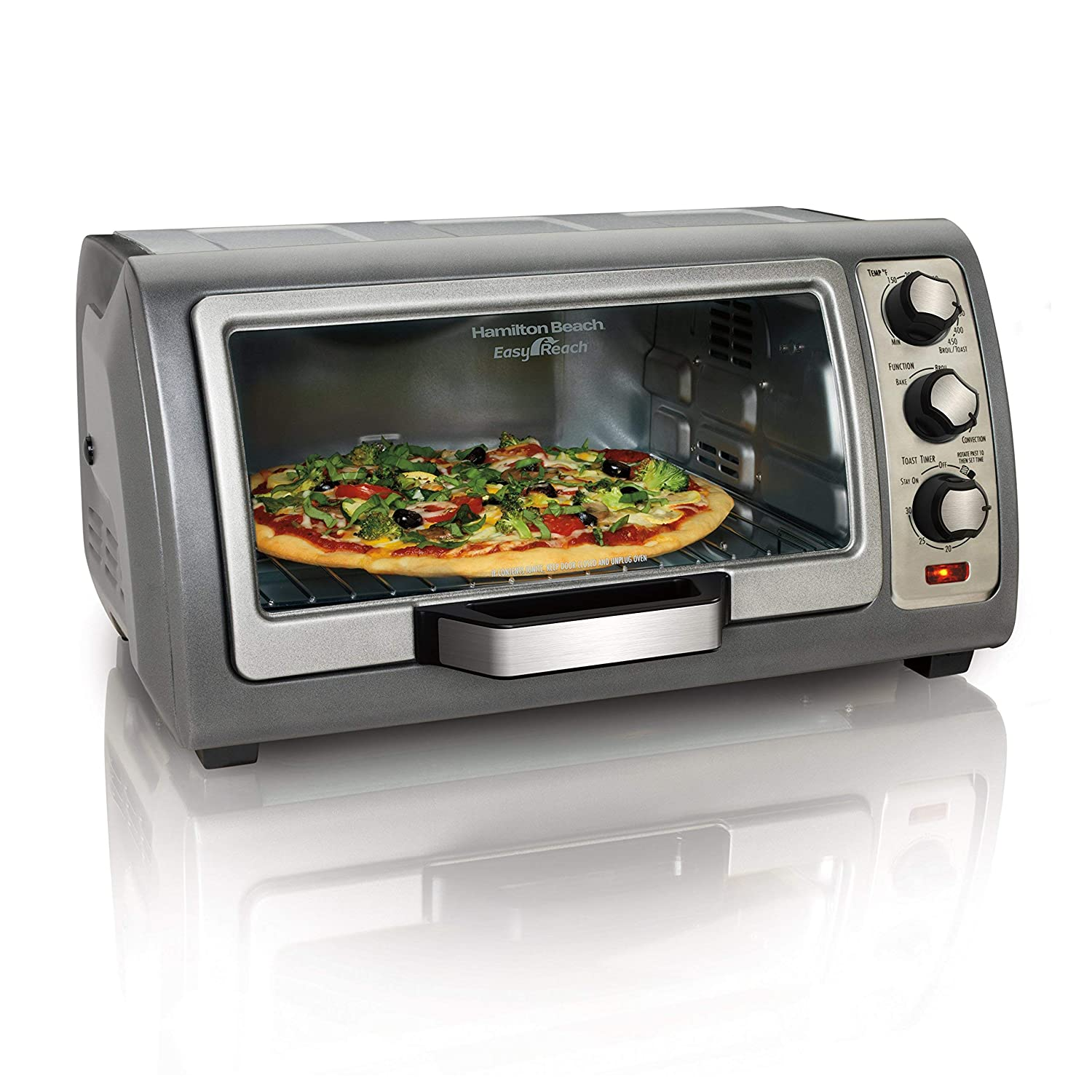 Hamilton Beach (31126) Toaster Oven, Convection Oven, Easy Reach (Certified Refurbished)