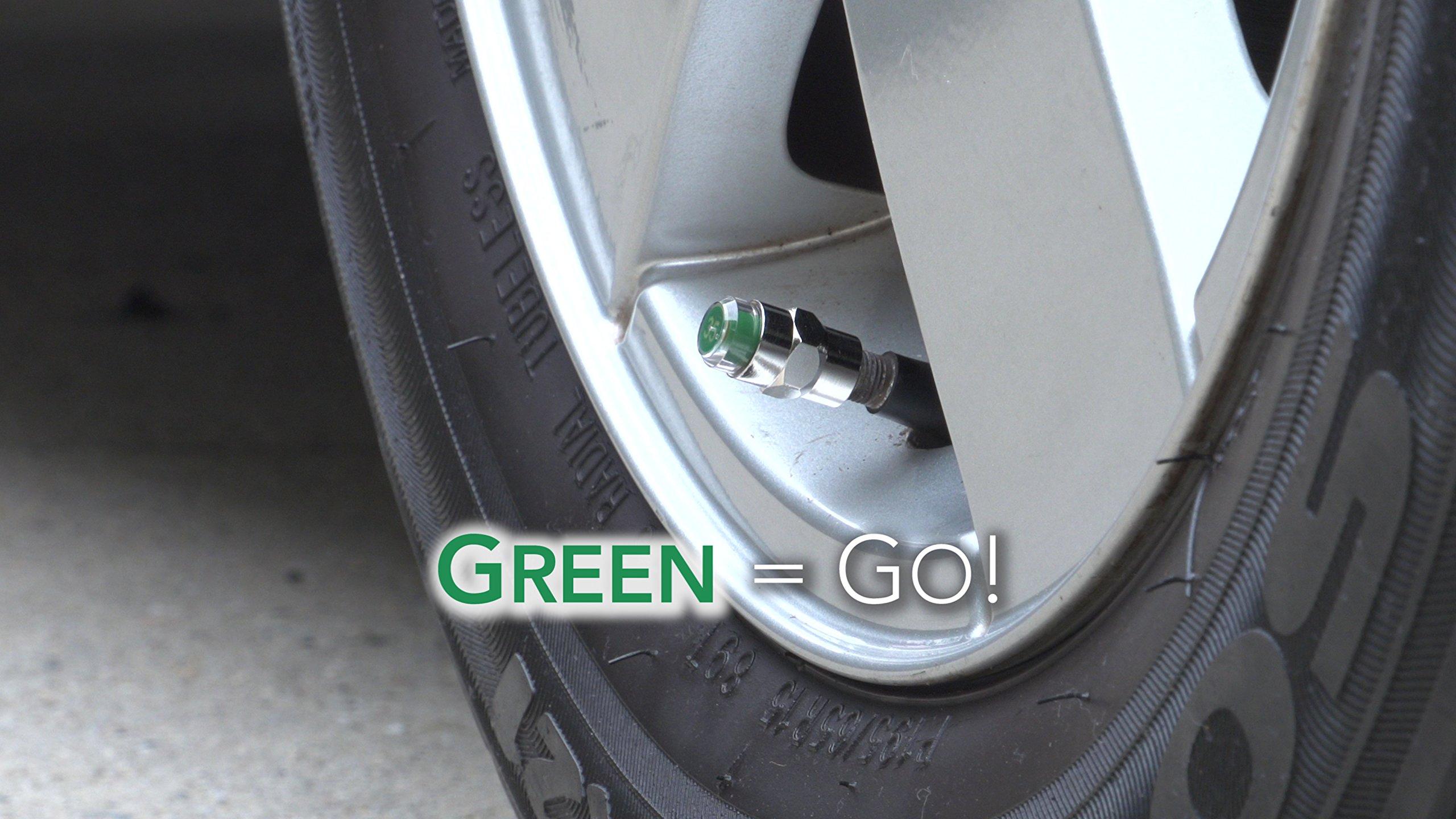 CLC International EZ Read Tire Caps - Valve Stem Caps that Monitor Tire Pressure - Tire Caps, All Season, Prevent Flats & Blow Outs - PSI 50 by CLC International (Image #3)
