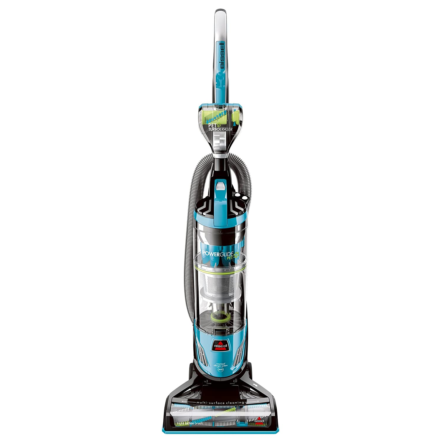 Bissell PowerGlide Pet Hair Bagless Vacuum Cleaner, Blue (Certified Refurbished)