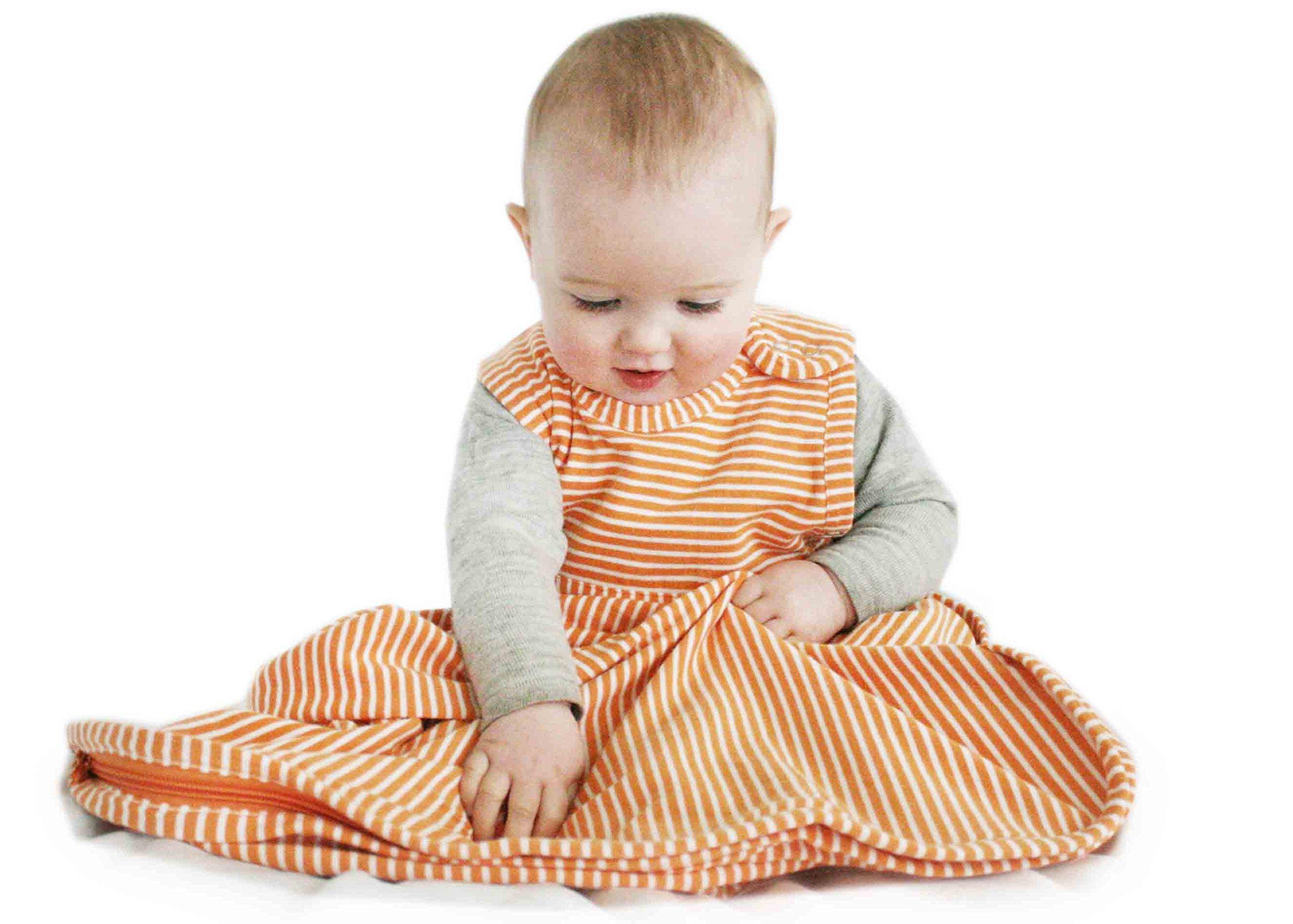 Merino Kids Baby Sleep Bag for Babies 0-2 Years, Nectarine