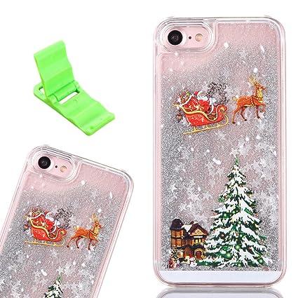 christmas iphone 7 case sxuuxb bling glitter new arrivel merry christmas tree floating liquid quicksand