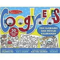 Melissa & Doug Bloc para Colorear con Ojos Móviles - Animales Chiflados