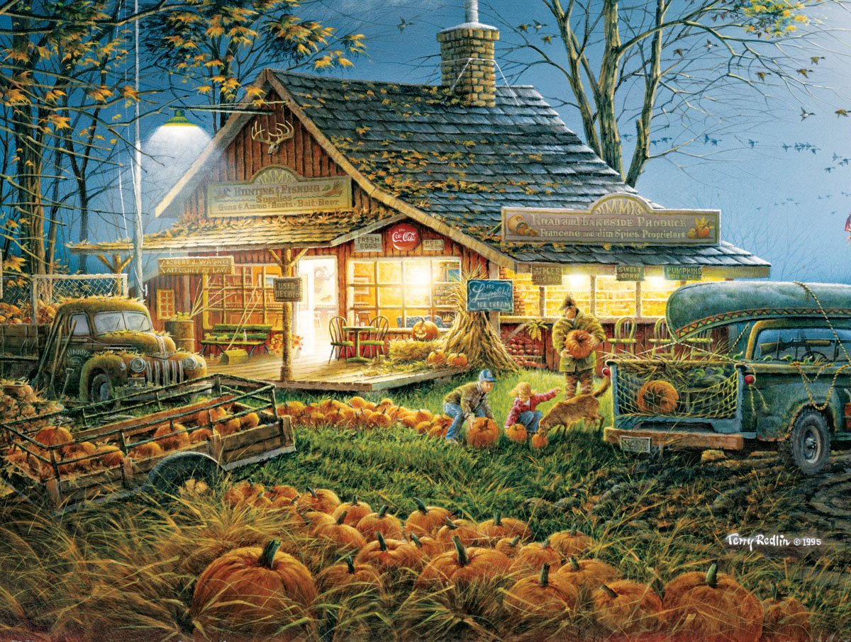 White Mountain Puzzles Autumn Traditions - 300 Piece Jigsaw Puzzle