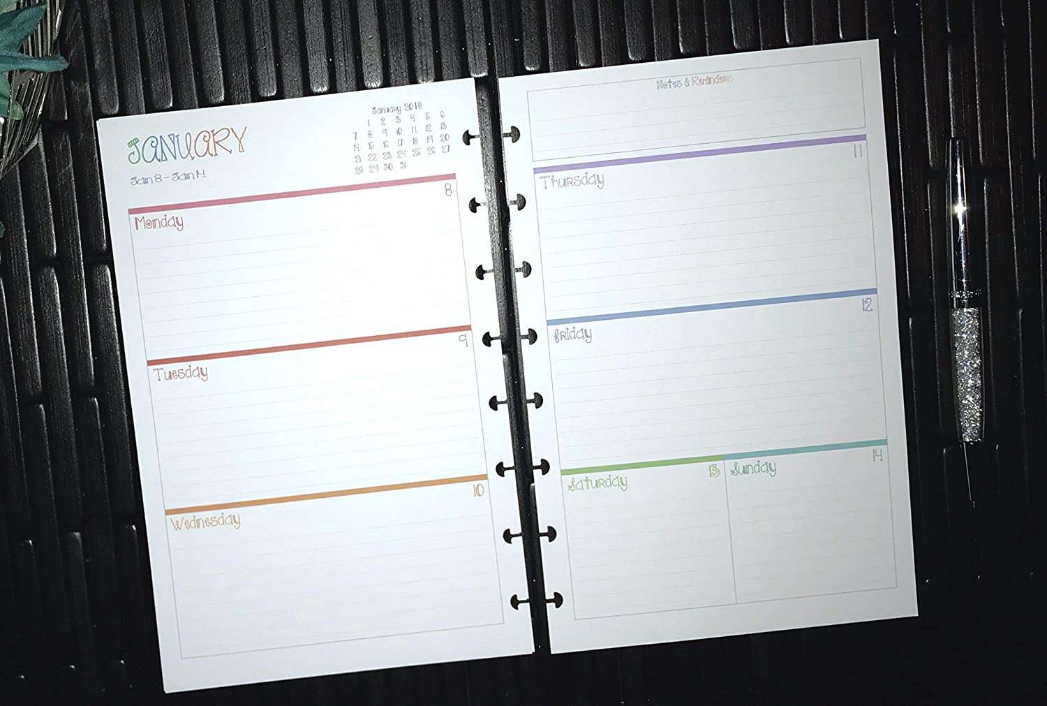 Staples Calendar 2022.Stationery Martha Stewart And All Half Letter Size 5 5 X 8 5 Tul 2019 2020 2021 2022 Daily Calendar For Discbound Planners Planner Inserts Only Arc Jr By Staples Fits Circa Junior Appointment Books Planners