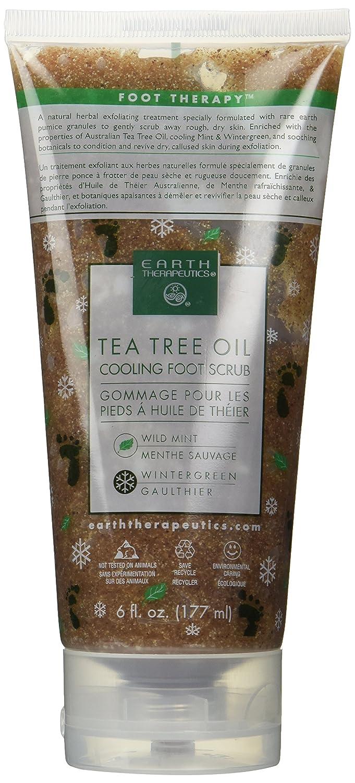 Tea Tree Oil Cooling Foot Scrub 6 fl. oz. Earth Therapeutics