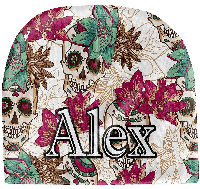 Beanie Beige Sugar Skulls /& Flowers Baby Hat Personalized