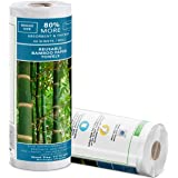 Bamboo towels (40 Sheets Roll) | Bamboo Reusable Paper Towels | Unpaper Towels | Strong & Absorbent | 100% Organic…