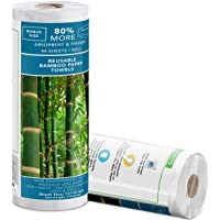 Zero Waste   Reusable Bamboo Paper Towels  50 Sheets-Roll   Unpaper Towels   Strong & Durable   100% Biodegradable…
