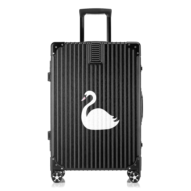 GSHCJ スーツケース 美しい白鳥 キャリーケース 20インチ おしゃれ ブラック Tsaロック搭載 プリント ハード 超軽量 軽い 機内持込 ロックファスナー 旅行 ビジネス 出張 海外 修学旅行 丈夫 便利 レディース メンズ 学生 B07S17V96Q