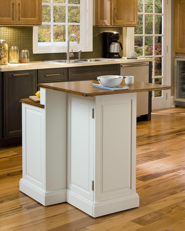 Amazon com woodbridge white kitchen island by home styles kitchen islands carts