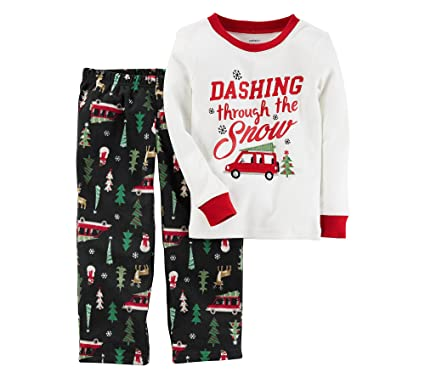 27de32d370 Amazon.com  Carter s Boys  2T-12 2 Piece Christmas Cotton Fleece ...