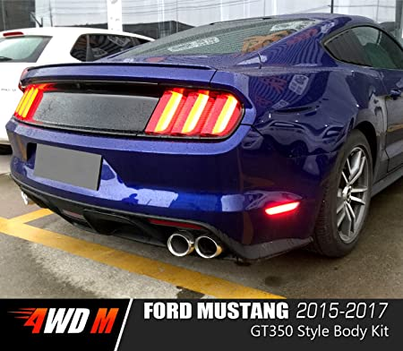 4wdmuscle Gt350 Style Body Kit Ford Mustang 15 17 Gt Ecoboost V6