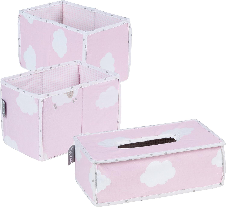 Roba Baumann 306107V202 Set Bo/îtes Petite Nuage rose