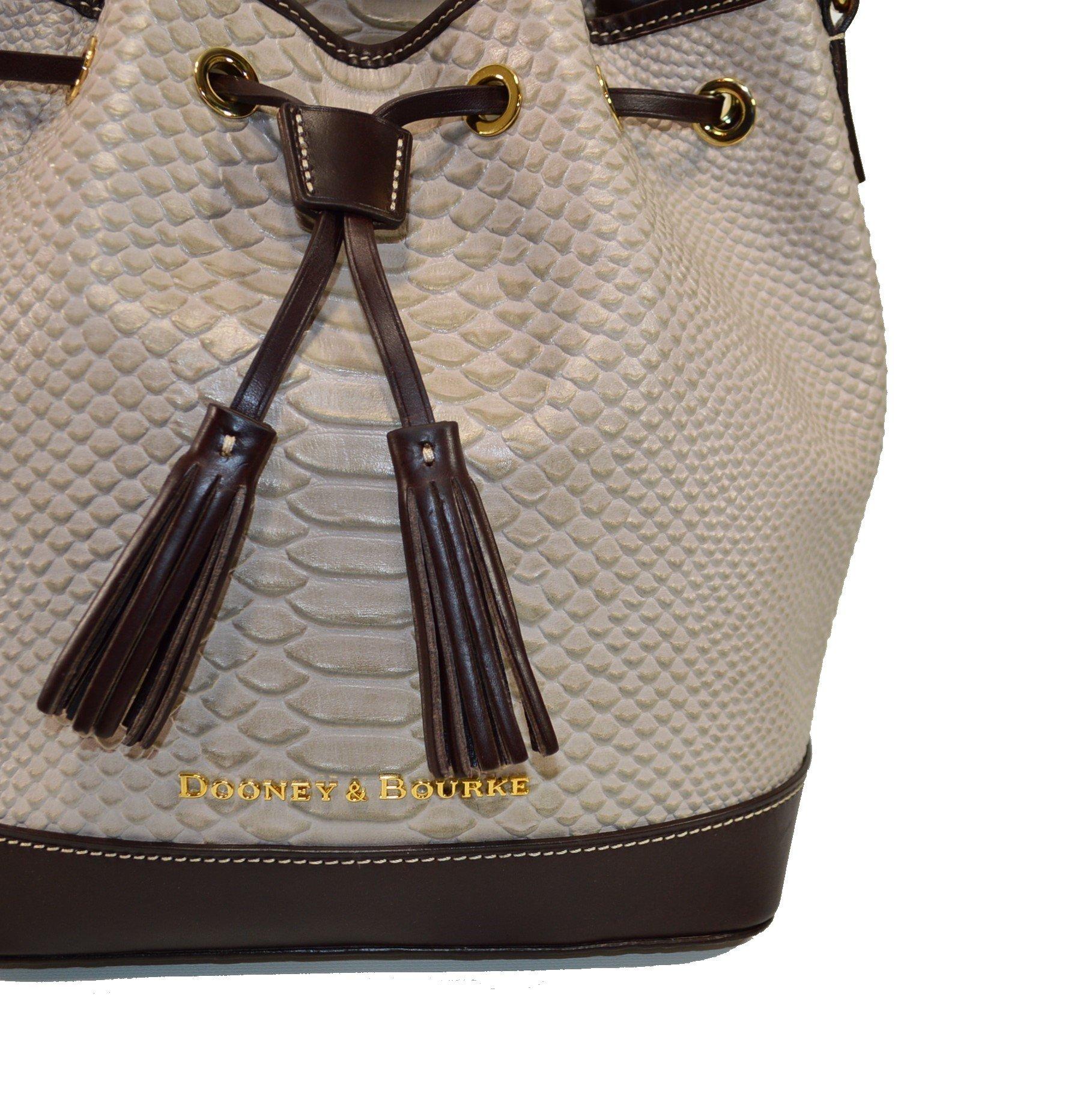 Dooney & Bourke Cordova Leather Drawstring Bag BCALD9038 Taupe by Dooney & Bourke (Image #1)