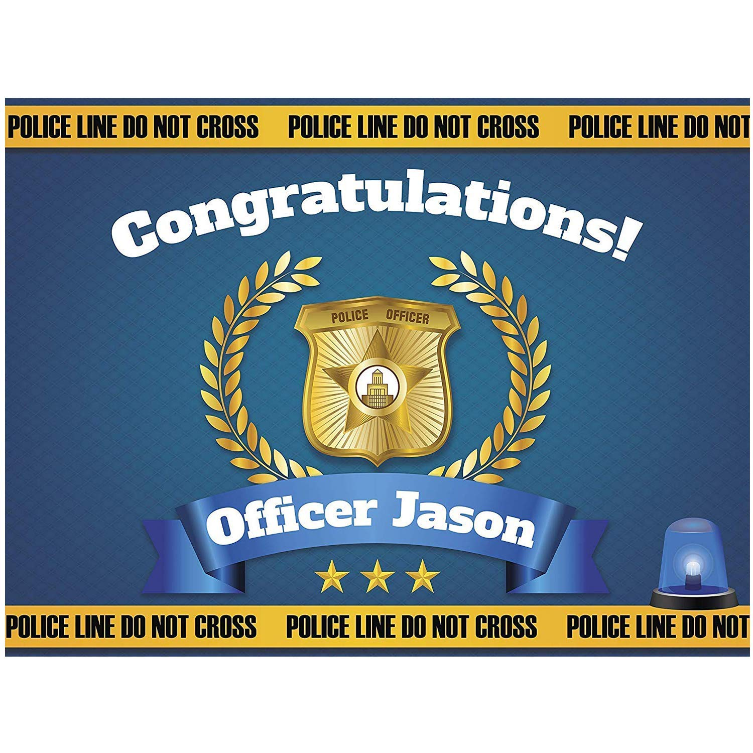 Personalised Police Officer Card congratulations Passing Out Promotion Card