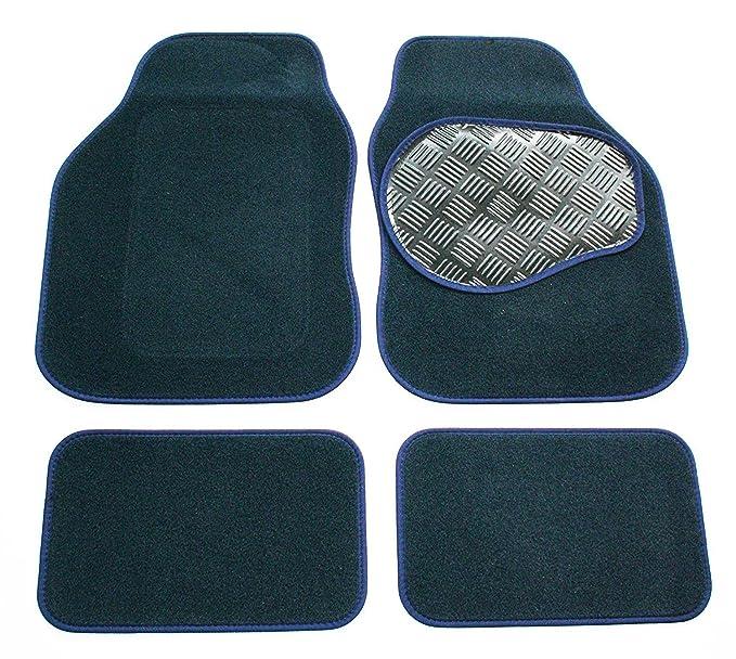 86-89 Perfect Fit Grey Carpet Interior Car Floor Mats Set for Ford Escort Mk4