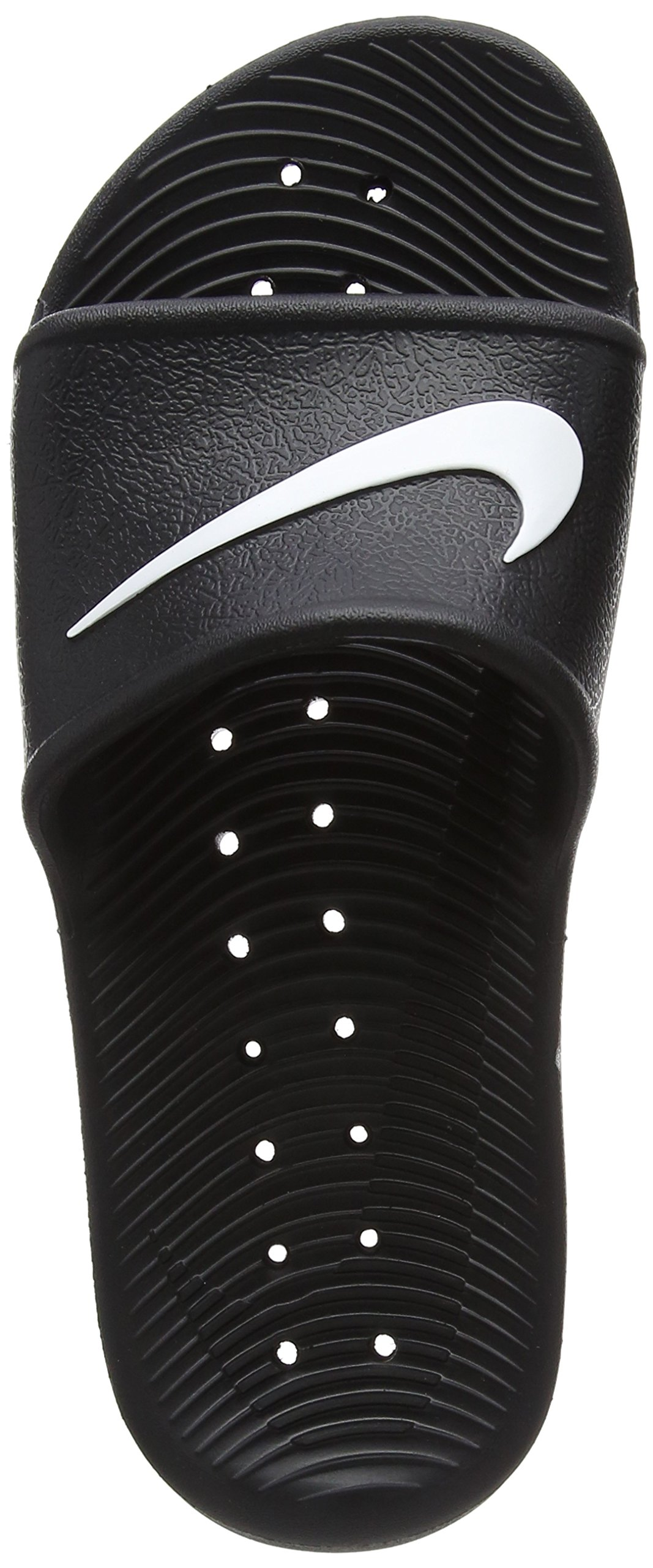Nike Womens Kawa Sport Shower Slide Sandals Black/White (10)