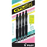 Pilot G2 Mini Premium Retractable Gel Roller Pen, Fine Point, 0.7mm, Black Ink, Pack of 4, 31734