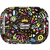 Beamer Designer Series Small Metal Rolling Tray -Funky Crown - 7 Inch x 5.5 Inch