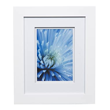Gallery Solutions Photo 8x10 Flat Tabletop or Wall Frame with Double White Mat for 5x7 Picture, 8  x 10 ,