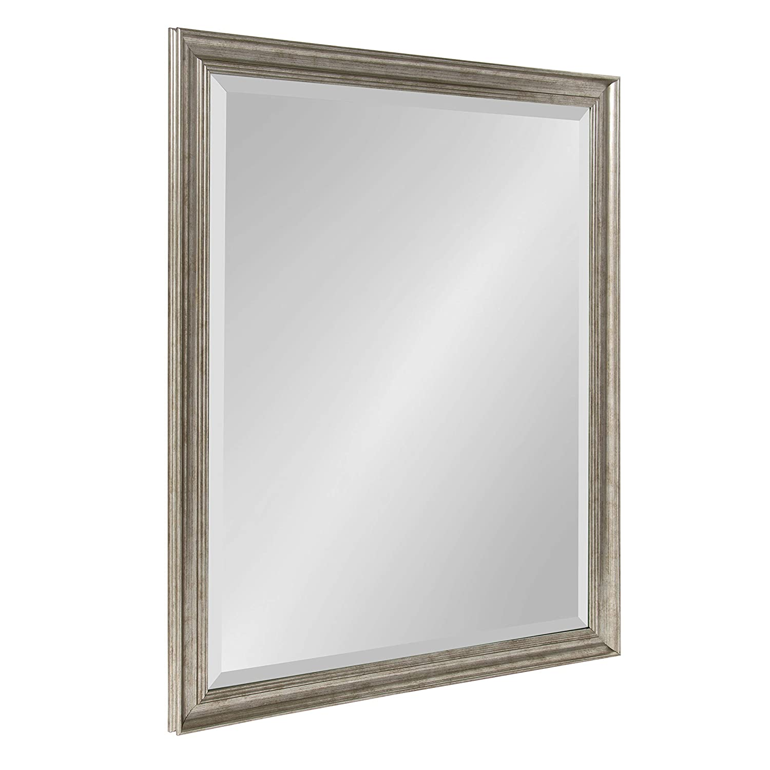 Mirrorize.ca Mirror with Brown Wash Frame and Orange Knobs, 37-Inch by 29-Inch Inner Mirror 28-Inch by 20-Inch