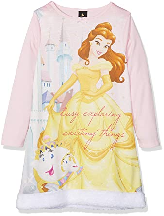 vente chaude en ligne 3d1d4 92f36 Disney Belle Faux Fur Chemise de Nuit Fille: Amazon.fr ...